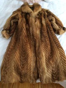 Beautiful Vintage Fox Fur Coat