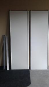 """Closet doors, brand new, 48""""x80"""" white, sliding"""