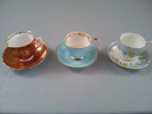 Fine Bone China Teacups with Saucers