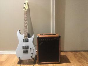 Godin guitar and pig nose amp for sale