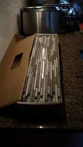 Grey and White Woodgrain Italian Mable Stick Accent Tiles