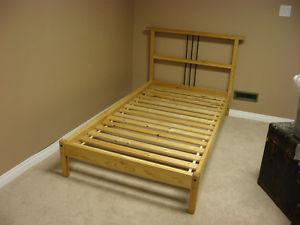 IKEA solid wood single bed frame