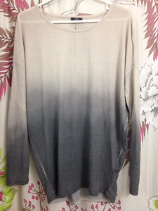 LONG SLEEVE OMBRE SWEATER - SIZE L/XL