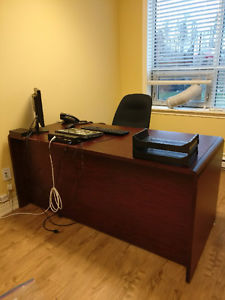 Large Office Desk - Cherry Finish
