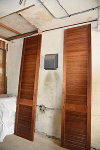 Large wooden shutters
