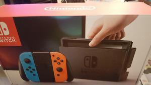 New Nintendo Switch with Neon Red Blue Joy Con