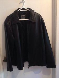 New price! Men's Large, Black Leather Jacket
