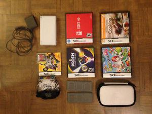 Nintendo DS Lite w/ Guitar Hero, Other games, and case