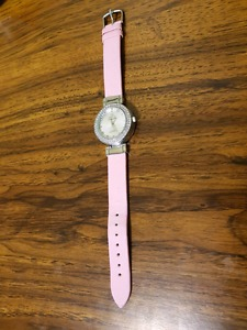 Omega pink/silver ladies watch