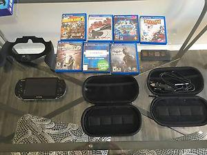 Ps vita, with games and accessories