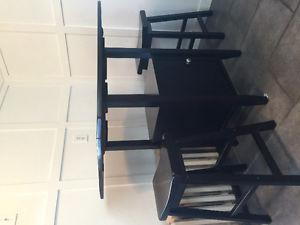 Pub height kitchen table and two stools