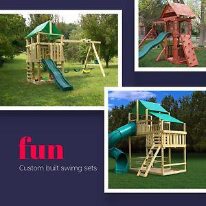 Quality built play house and swing sets