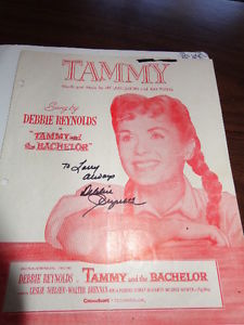 Two Debbie Reynolds signatures obtained in