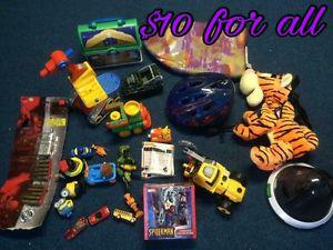 Various baby and kids items and toys