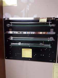 Various towel bar, soap dishes T. P. holders etc