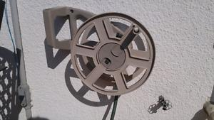 Wall mounted hose reel and hose