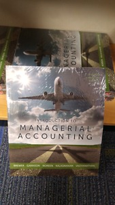 Wanted: LOOKING for Intro to Managerial Accounting textbook