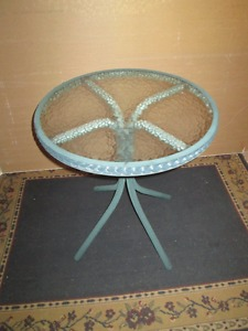 patio table - great for two to dine at