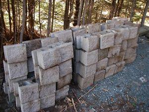 retaining wall concrete block..$1.00 EACH,, must take all