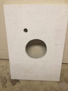 white granite bathroom counter top... beautiful color
