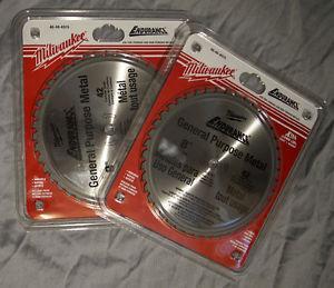 "2 - Brand New Milwaukee 8"" Metal Cutting Saw Blades"