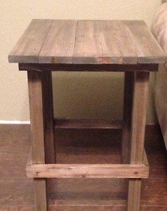 2 x end tables made of solid