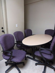 ~~~6 feet conference table with 6 chairs