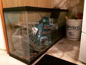 60 gallon fish tank with rocks/filter/tank vacuum
