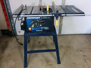 Air compressor, table saw and compound mitre saw