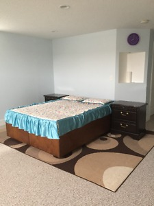 Box Bed with side tables and mattress, Sectional /Sofa bed