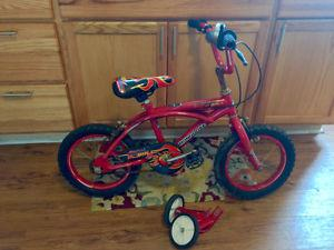 Boys 14 Inch Bike With Training Wheels Some Rust On Handle