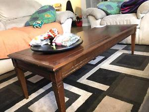 Coffee Table with 2 matching bed-side tables