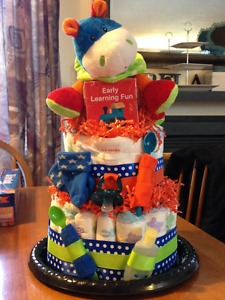 Colorful Boy's Diaper Cake