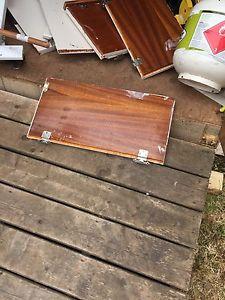 Cupboard doors for firewood