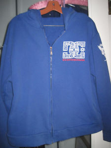 DC Shoes Full Zipper Graphic Logo Hoodie - Size Large