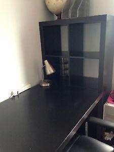 Desk attached to shelf brand new