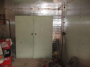 Double Steel door with hinges