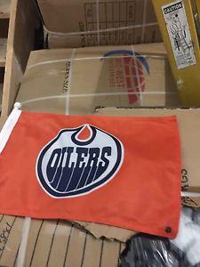 Edmonton Oilers Car Mounted Flags