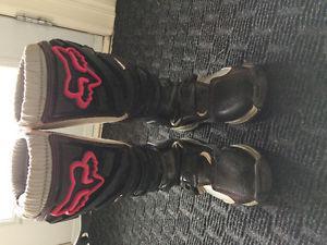 Fox Racing Womens Ladies Girls Comp 5 Boot Black/Pink