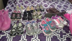 Girls Toddler size 12 mostly 13 shoes