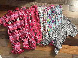 Girls onesie pj lot