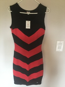 Guess black and red dress