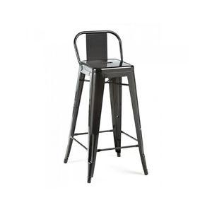 Industrial Counter Height Black Kitchen Island Stools