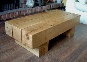 Industrial side bean coffee table