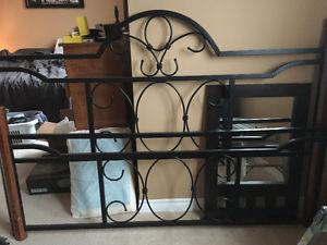 King size rod iron bed