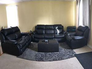 Leather couch set! (Love seat, couch, chair)