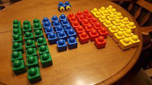 Lego Duplo Baby / Toddler Blocks - 60 Pieces + 1 Vehicle
