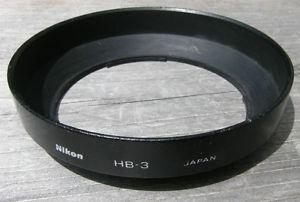 NIKON HB-3 BAYONET CAMERA LENS HOOD For mm Lens VG