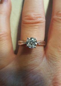 ONE carat Diamond Engagement Ring & Enhancer Wedding Band