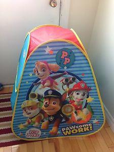 Paw Patrol pop up tent